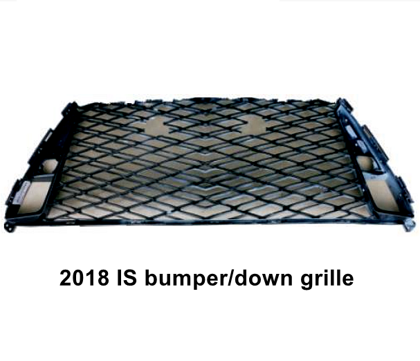 Bumper grille down grille for toyota lexus is300 is300h 2018 2019