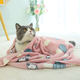 Wholesale Flannel Warm Soft Luxury Dog Cat Bed Blankets Cat Dog Pet Blanket for Cats Dogs with Paw Printed