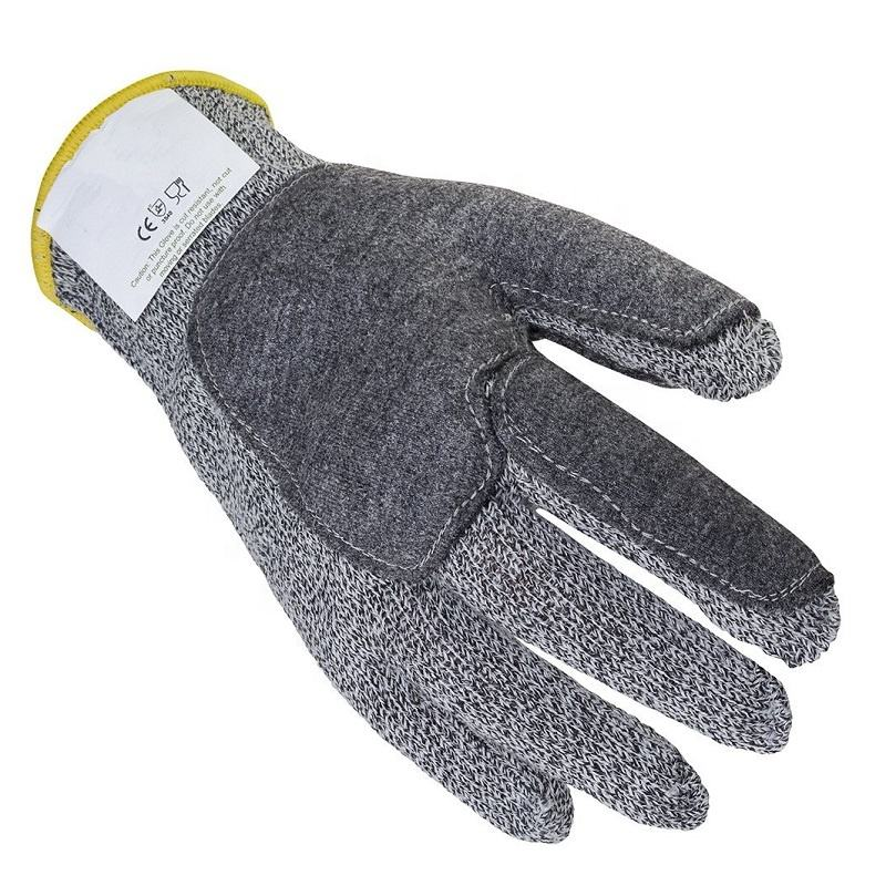 High Performance Synthetic Fibers Reinforced Protection in Critical Zones Level 5 Cut Resistant Gloves