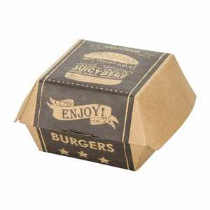 Custom Printed Paper Burger Box for Fast Food