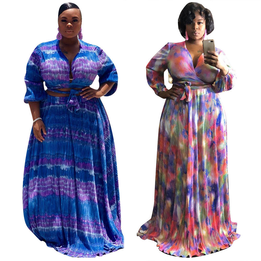 Plus Size Long Dresses Women, Two Piece African Dress, Two piece set women clothing