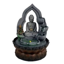 Resin Buddha Statue Waterfall Water Fountain for Office Home