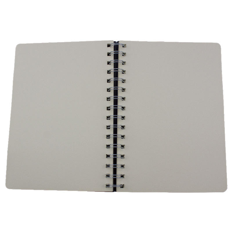 Promotional advertising customized PP cover sprial notebook with round corner