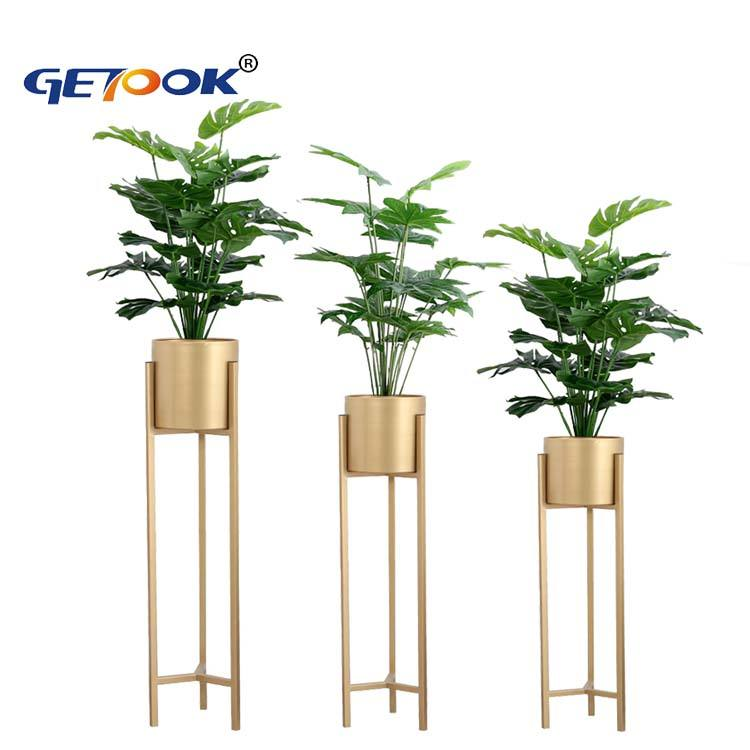 Modern Home Decor Metal Indoor Flower Pot Holder Floor Plant Stand