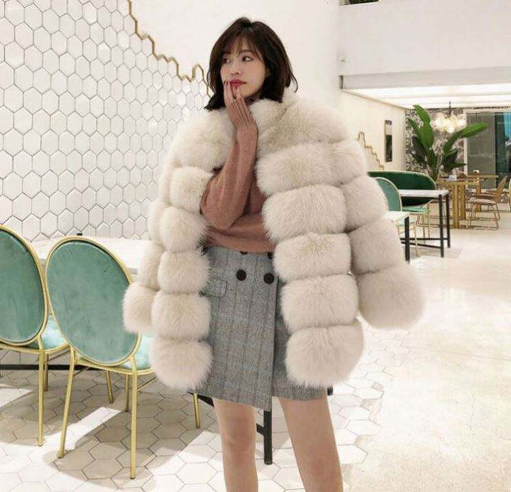 fashion ladies custom winter leather girls' jackets faux fur coat bubble women plus size coats