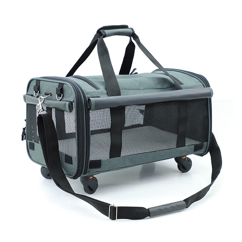 Pet Carrier con Ruote Popolare Morden Espandibile Carry in Viaggio Pet Dog Carrier Bag con Ruote
