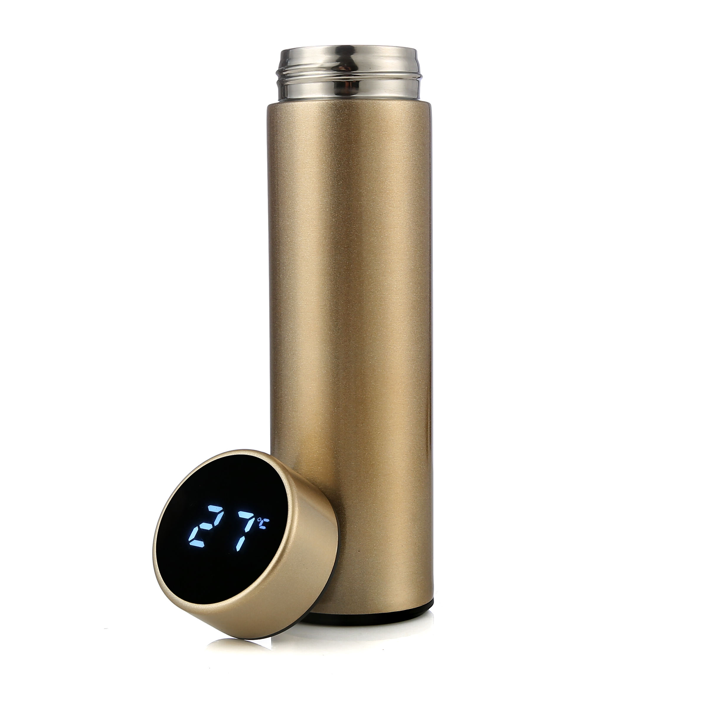 One-Stop Service [ Water Bottle ] Unique Bottles Factory Spot 304 Stainless Steel Intelligent Insulation Water Bottle Outdoor Travel Unique LED Temperature Display Vacuum Flasks