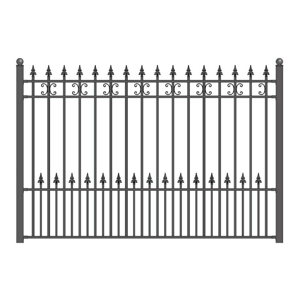 Wrought Iron Railing Design Galvanized Steel Garden Balcony Panel Metal Fence