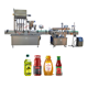 PLC control YB-JX4 Automatic shampoo honey filling capping olive oil fliing labeling machine