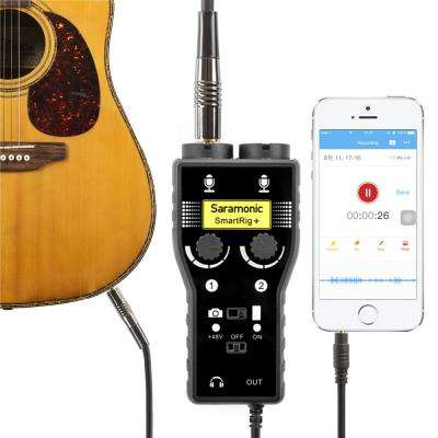 SmartRig + XLR/3.5 milímetros de Áudio do Microfone Preamp Mixer & Interface De Guitarra para DSLR Camera iPhone 7 7s 6 iPad iPod Xiaomi