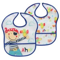 High Quality New Arrival Waterproof Cleaning Bady Bibs 2pk baby eva bibs