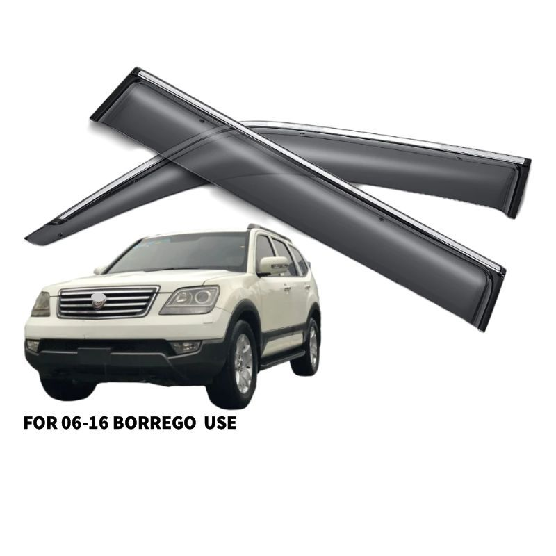 Factory Sale Price Custom Injection Door Window Visor For 2006-2010 KIA BORREGO verwenden