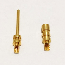 custom brass internal spring connection male female power contact automotive connector pin cable battery wire terminals