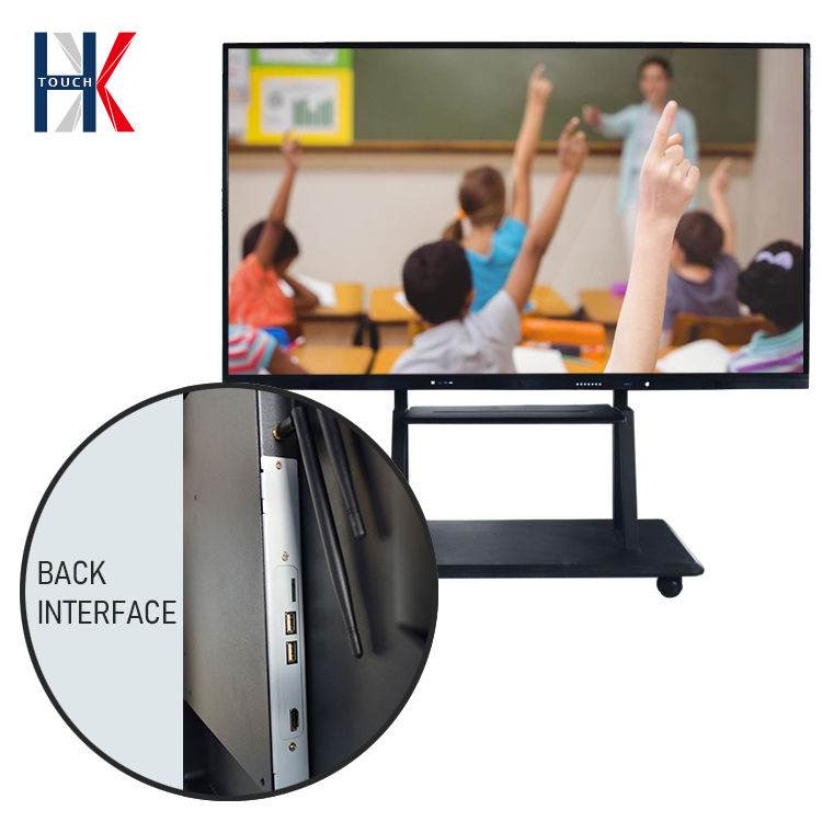 75inch Interactive All In One Smart Touch Screen Digital Display Teaching for Classroom Multi Touch Electronic Whiteboard