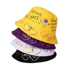 Unisex Harajuku Custom Logo Bucket Hat Fishing Outdoor Hip Hop Cap Men's Street Summer Fisherman Hat Women