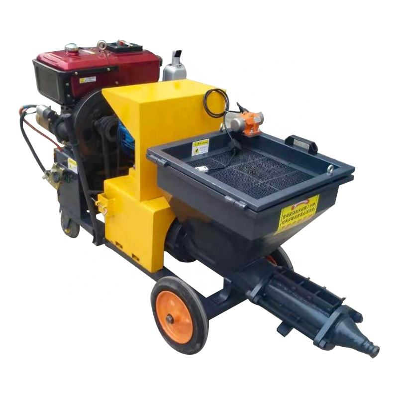 Professional cement mortar spraying machine concrete screed spraying machine for sale
