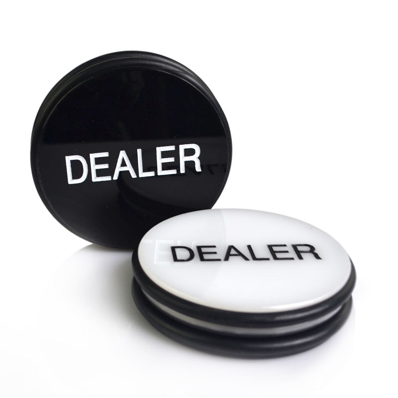 Factory supply poker button dealer Black and white double-sided casino accessories gambling supplies