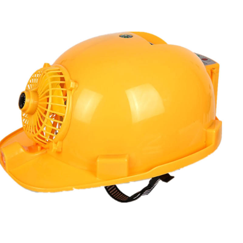 Fan helmet site sunscreen solar charging with fan shade ventilation summer engineering helmet