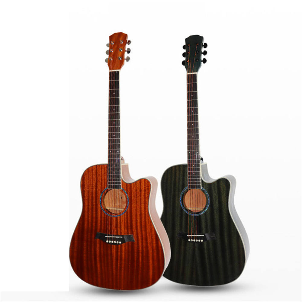 Wholesales high quality 41 inches sapele wood matte/shiny Acoustic guitar