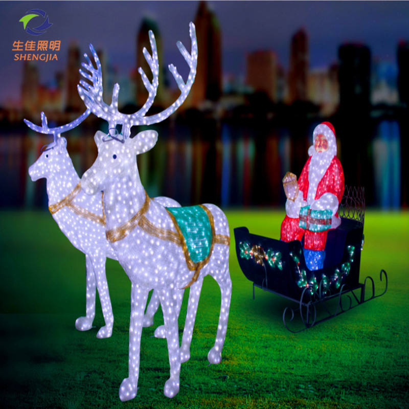 Outdoor Festival Lights for Christmas Commercial Decorations 3D Motif Led Street Lights with hanging LED Motif Rope Light