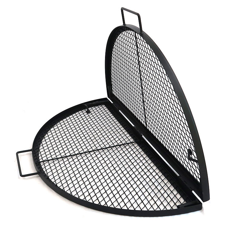 Newly launched foldable grill grate, outdoor camping dinner fire pit bbq grills, portable bbq for easy storage