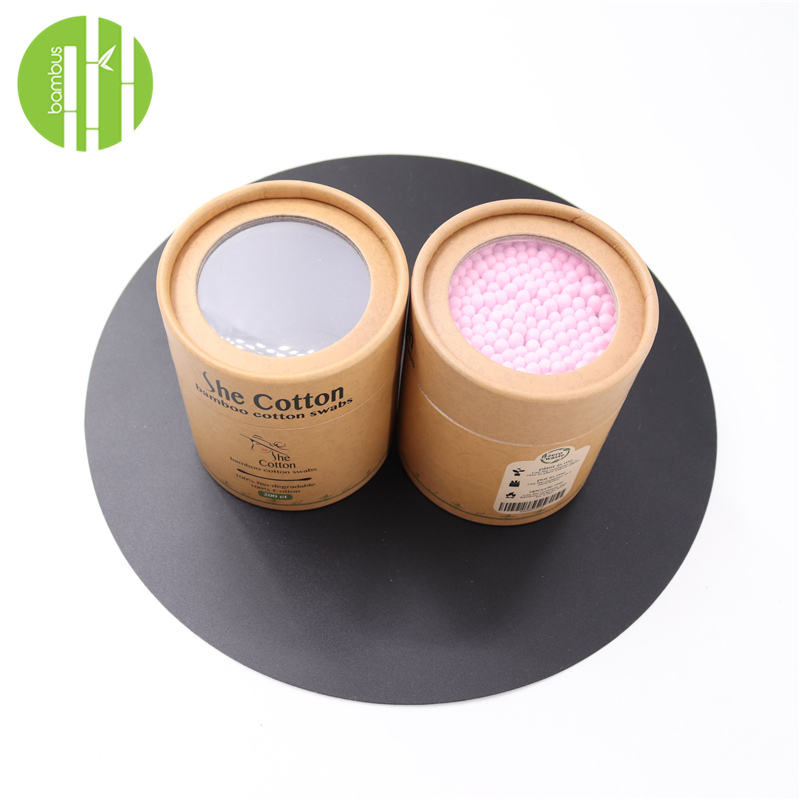 Plastic free zero waste cotton round tip with printing box