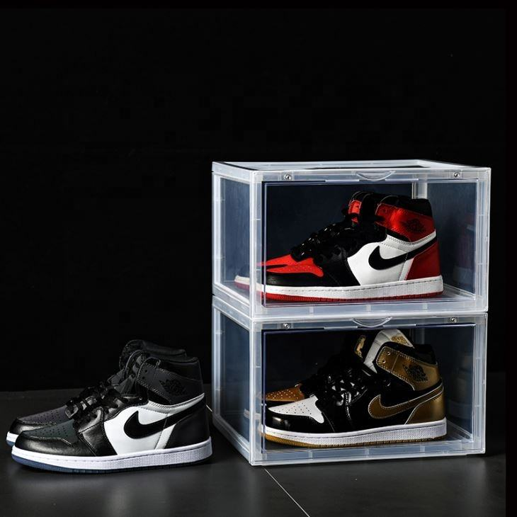2020 Hot Sale Drop Front Clear Sneaker Storage Box Acrylic Plastic Sneaker Box Factory custom shoe box CPSIA approved