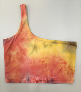Donne di estate Tie Dye Sexy Crop Top Mujer