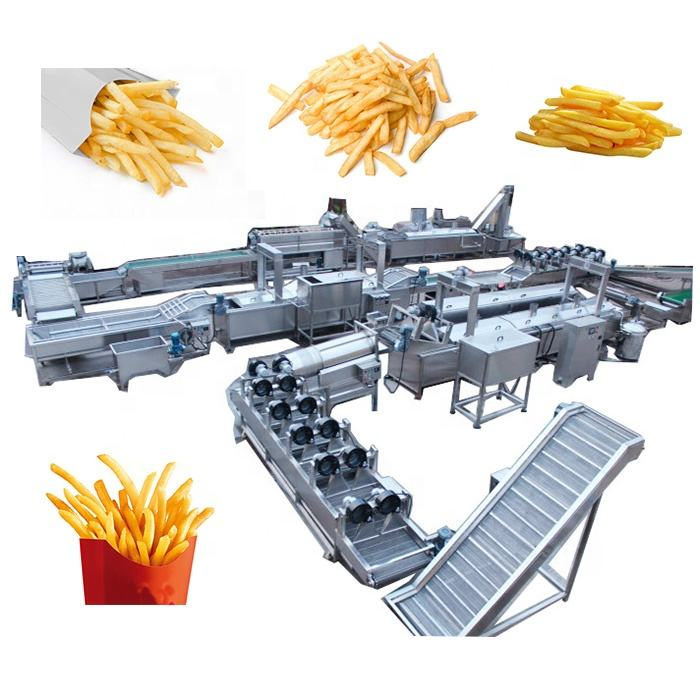 Small Fully Automatic Lays Potato Chips Making Machine Fresh Frozen Scale French Fries Machine Potato Chips Production Line
