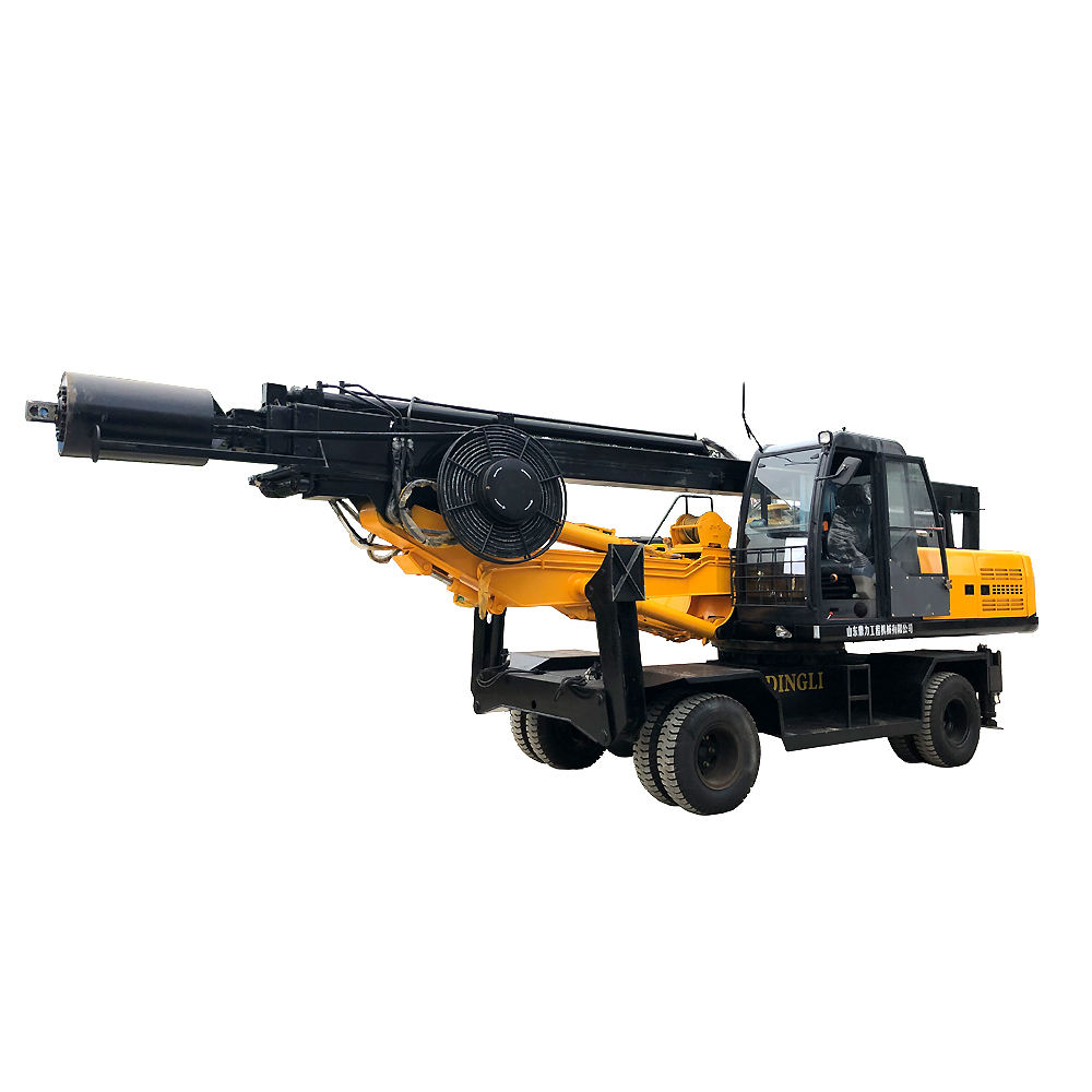 Small mobile pile driving machine rotary drilling rig