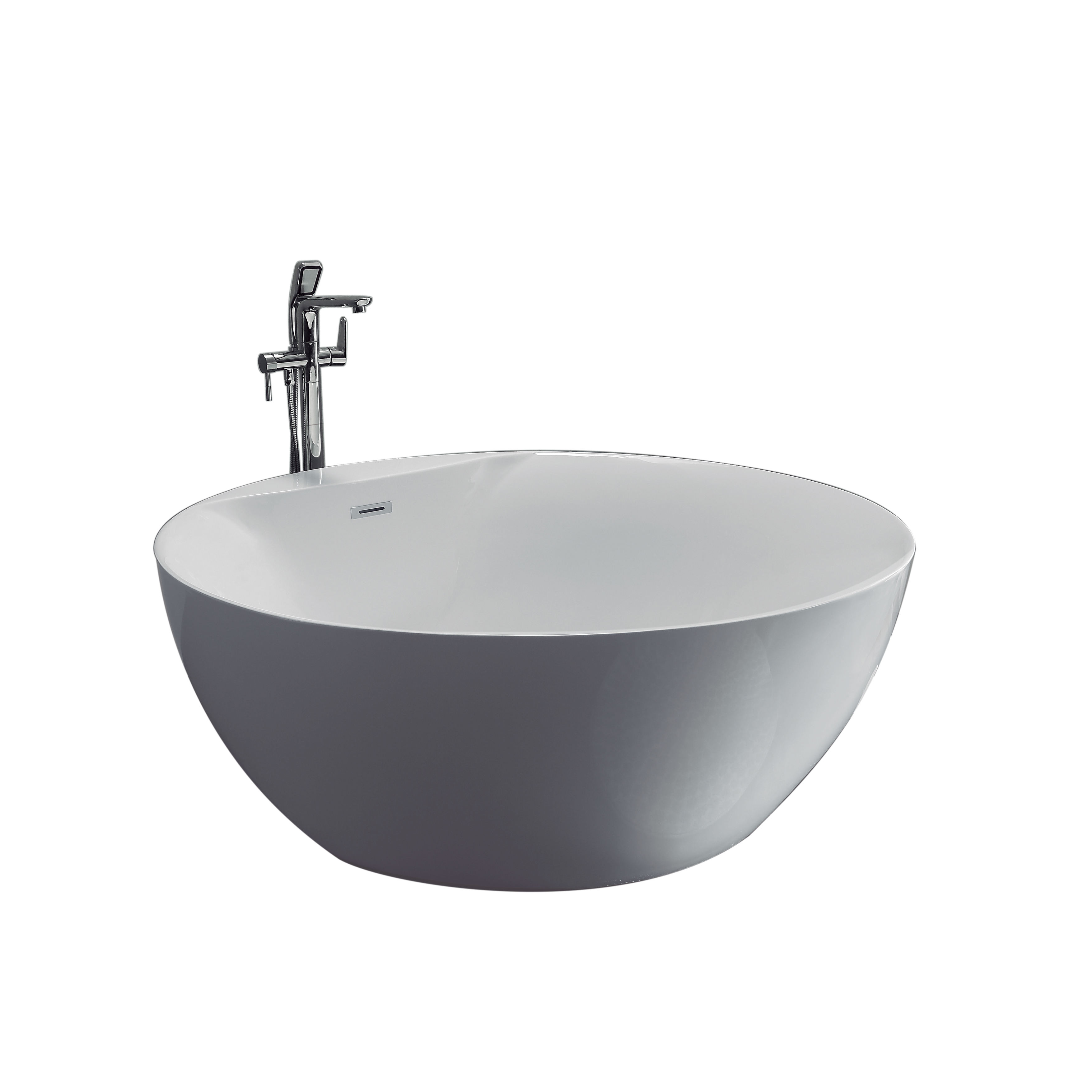 1500x1500 Round Bowl White Acrylic Freestanding Bathtub Optional with Faucets