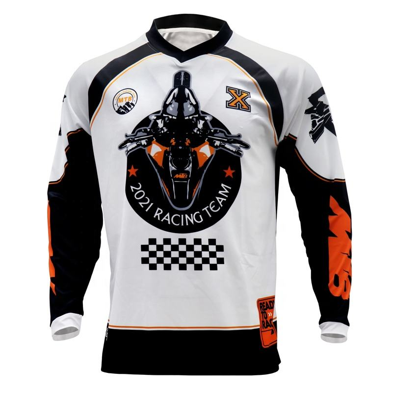 DH MX downhill motocross racing jersey motorcycle long sleeve t shirt custom made motocross jersey