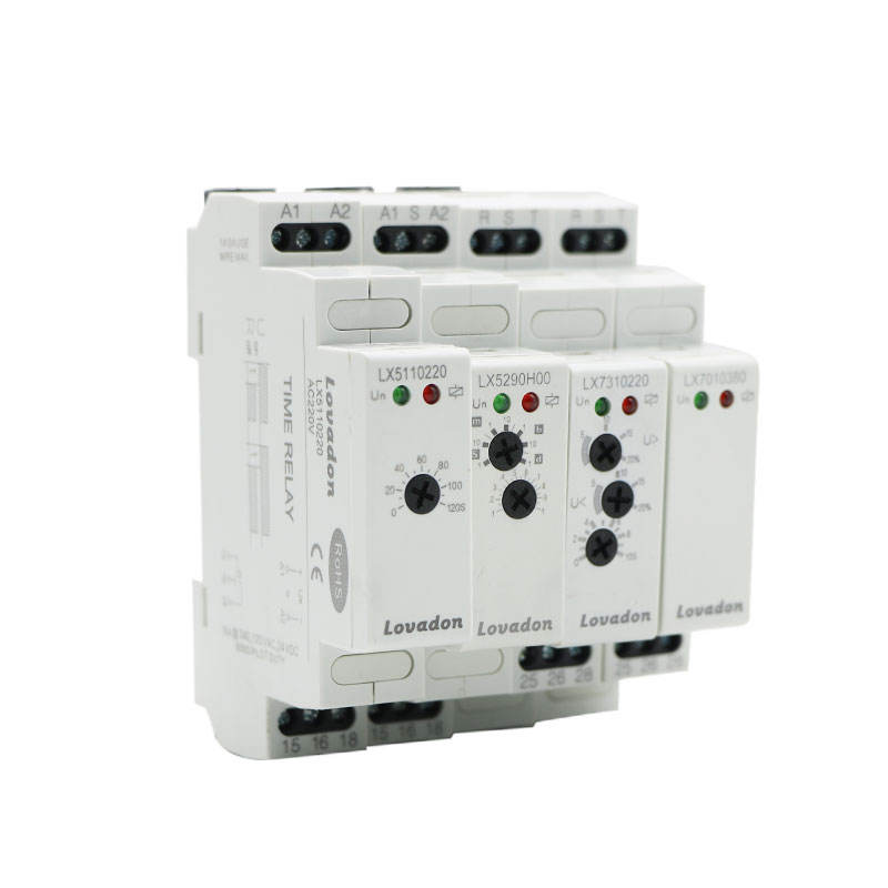 Multifunction Universal Power Supply One time delay 220V 24V AC china Modular Time Relay SPDT Timer Relay