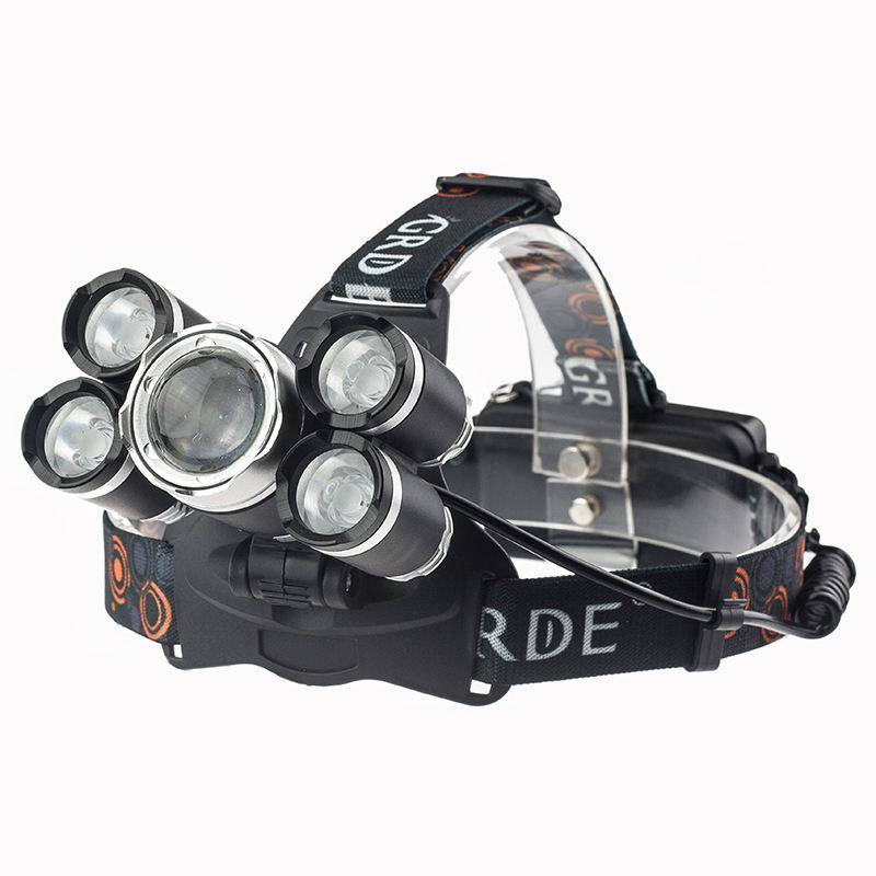 High Power 18650 Oplaadbare 3000 Lumen Zoom Led Koplamp Voor Camping Wandelen