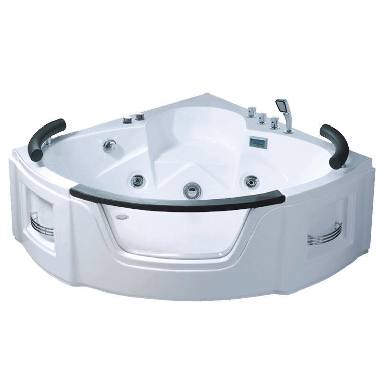 indoor hot tub with jacuzzi function/acrylic 2 sided skirt bathtub whirlpool apollo massage freestanding SPA bath tub