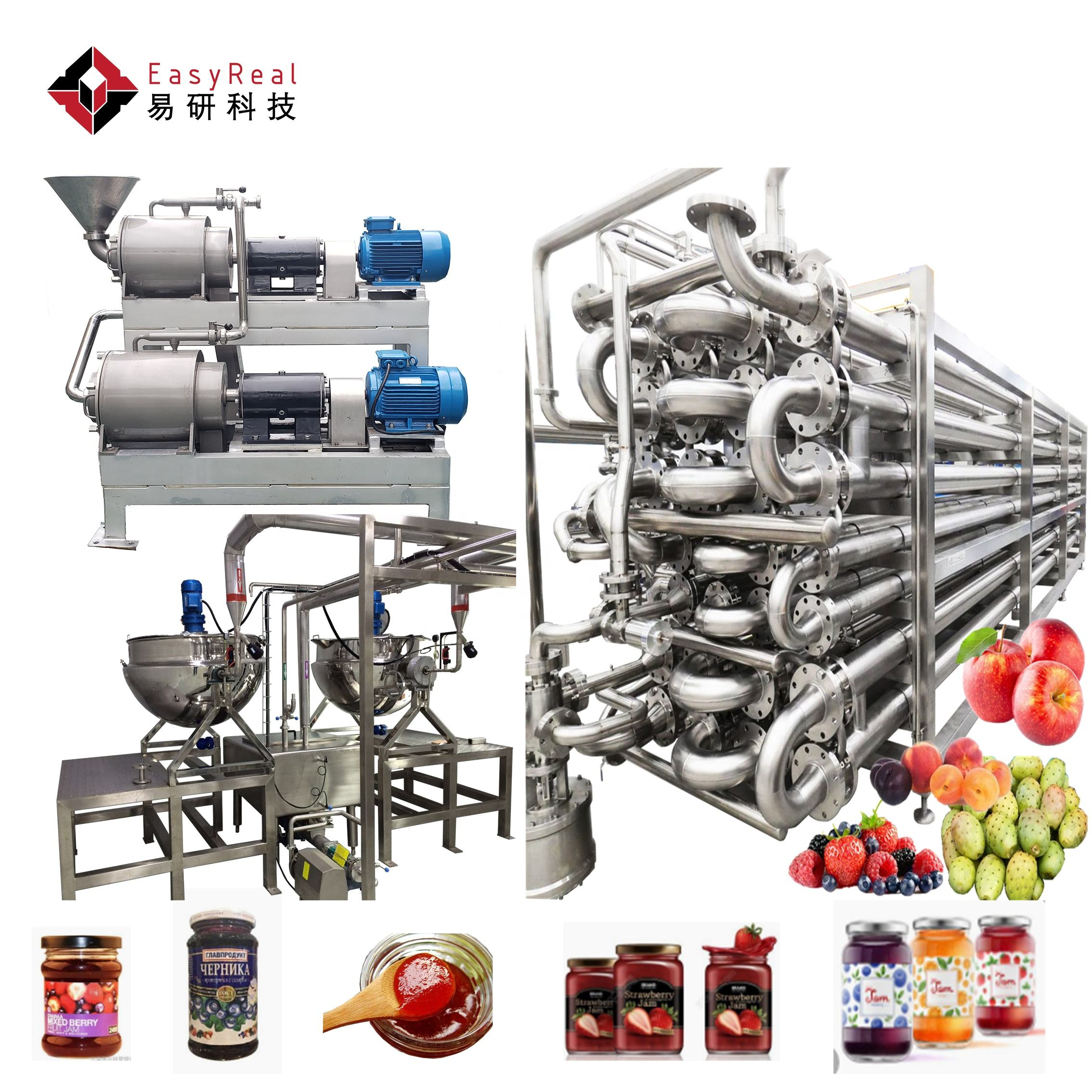 Automatic Fruit Apple Jam Processing Line Cherry Berry Jam Production Line Marmalade Producing Plant Machine to Make Jam