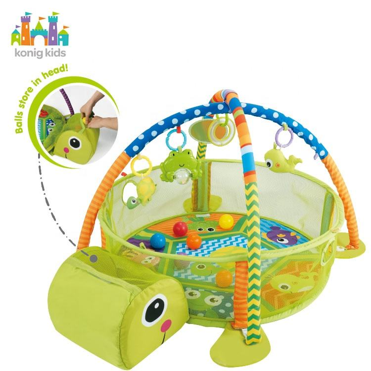 Amazon Hot Sale Activity Gym For Infants Gym/Educational Baby Activity Gym With Ball Pit/Baby Play Mat With Fence