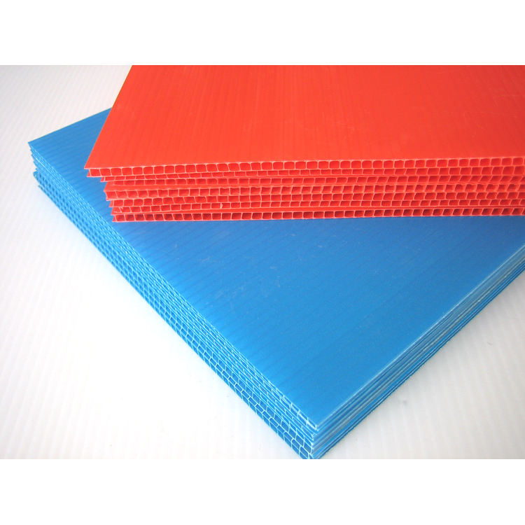 fireproof polypropylene coreflute correx board PP corrugated hollow fluteboard donut plastic advertisement coroplast sheet