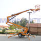 Advertising Company [ Articulated Lift ] 10m Mounted Boom Lift 6-18m Articulated Trailer Mounted Boom Man Lift Towable Cherry Picker For Sale