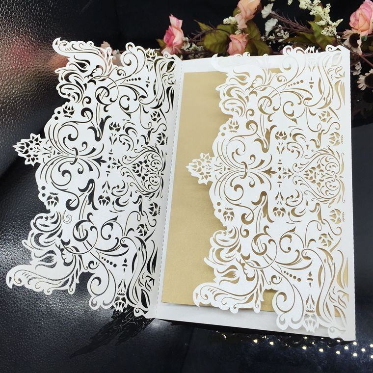 Factory custom 200gsm paper engagement card India wedding invitation card