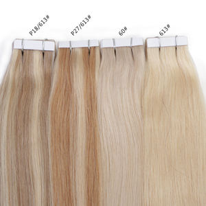 Wholesale 100% Ponytail Human Cuticle Hair Invisible Tape In Hair Extensions Double Drawn Remy Seamless Tape Hair Extensions