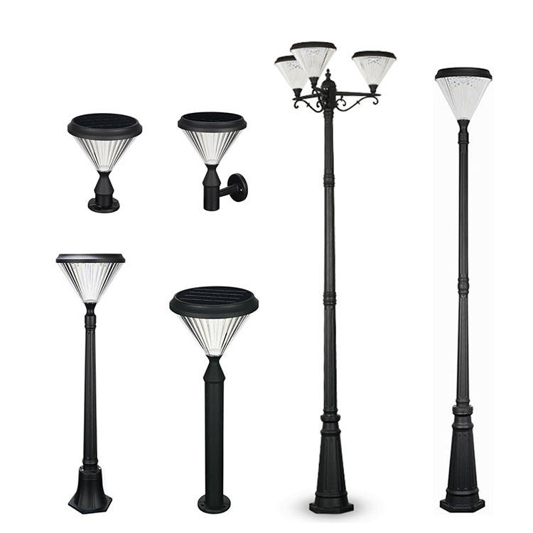 Outside Pathway Landscape Powerful Led Solar Lamp Garden Outdoor Post