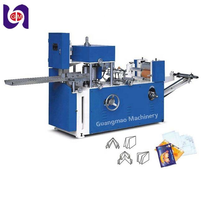 GM330 fully automatic embossing folding two color paper napkin tissue making machine price