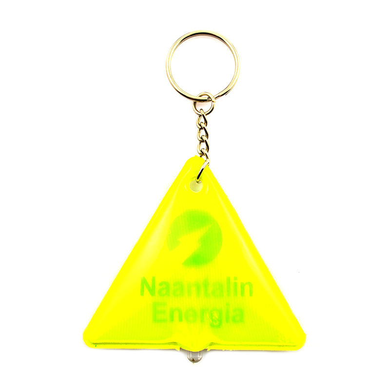 Oem Keyring Maker Supplier Personalized Flashing Key Ring Light 2D Key Chain Custom Plastic Soft Pvc Led Reflective Keychain
