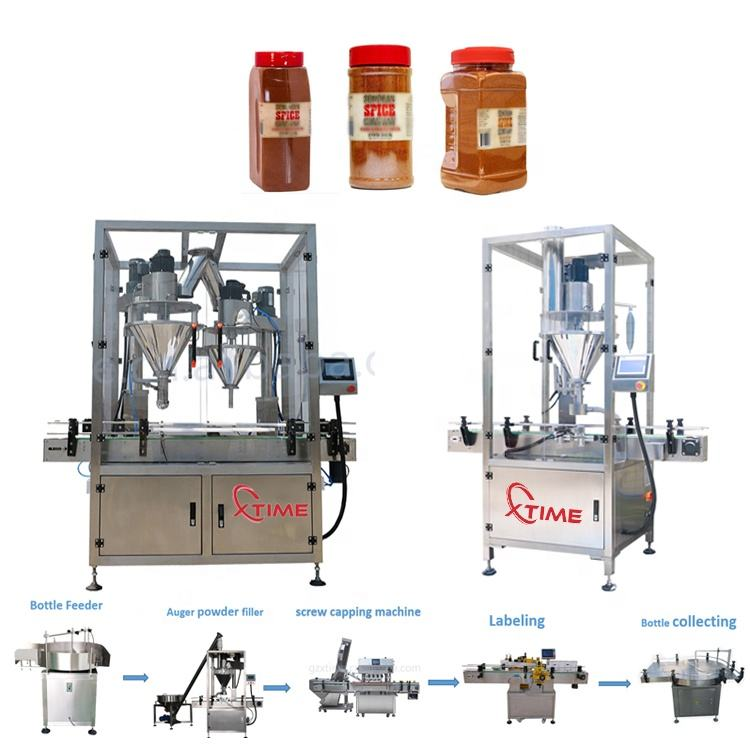 Fully automatic milk powder canning line cans sterilizer filling seaming capping machine