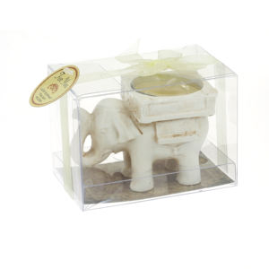 Favores Do casamento Abençoado Elefante Antique Ivory-Finish Velinha Candle Holder