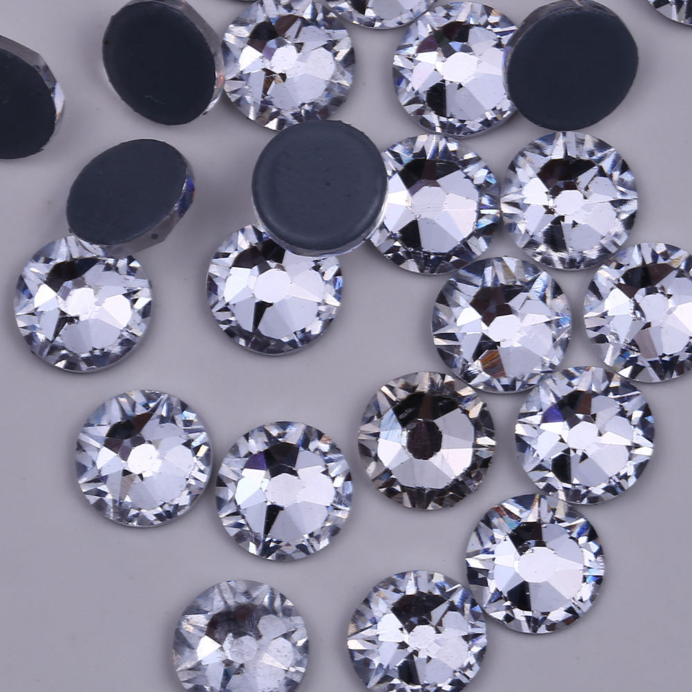 3A 8 8 Star Faceted With Hot Fix Austria Back Crystal Glass Rhinestone Hot Fix Rhinestone