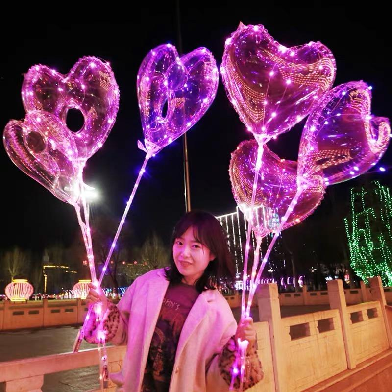 Wholesale Party Assemble balloons Decoration Helium Air Flashing Led Lighting Bobo Balloon Globos