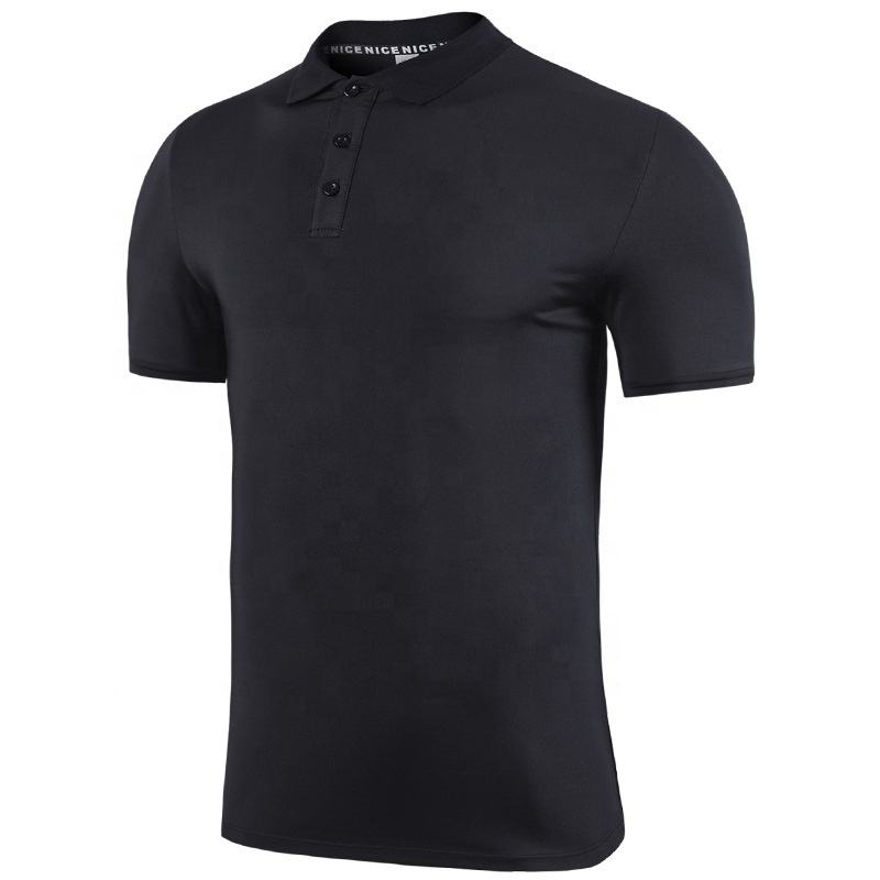Blank Wholesale Breathable Shirts For Men White Short Sleeve Polo Collar T-shirt Summer
