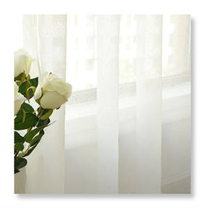 Plain color transparent voile sheer curtains white curtain for home